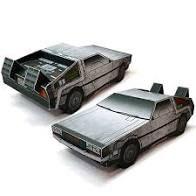 Usado: Carro De Volta Para o Futuro 3D Dobravél
