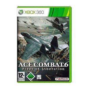 Usado: Jogo Ace Combat 6: Fires Of Liberation (Sem Capa) - Xbox 360