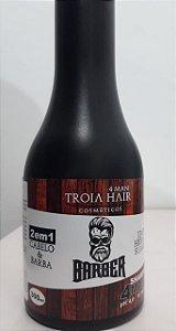 Shampoo 2 em 1 Troia Hair Cabelo e Barba Masculino 300ml