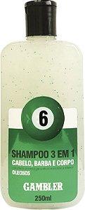 Shampoo 3 Em 1 Bola 6 Cabelos Oleosos 250ml Gambler