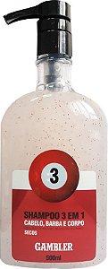 Shampoo 3 Em 1 Bola 3 Cabelos Secos 500ml Gambler