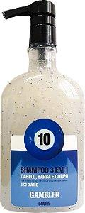 Shampoo 3 Em 1 Bola 10 - Uso Diário 500ml Gambler