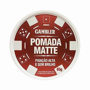 Pomada Matte Fixação Alta Gambler 65g