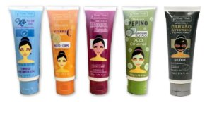 Kit Face Mato Verde 5 Máscara Facial Bisnaga Profissional (à escolher)