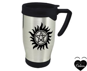 Caneca Térmica Supernatural Pentagrama 500 ml