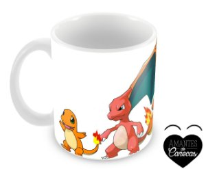Caneca Pokémon - Charmander Evoluções