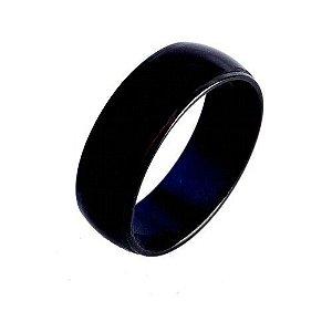 Anel Noite Escura modelo Aço Inox Preto Coleção O Preto Belo