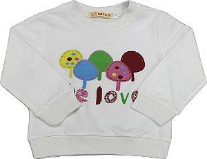 Moletinho Love Infantil Menina