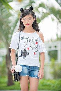 Shorts Feminino Juvenil Mily 10-16 Anos