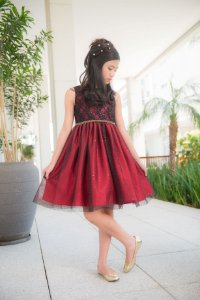 Vestido Vermelho Festa Mily