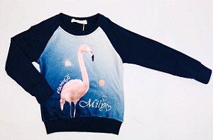 Blusinha Manga Longa Flamingo MIly