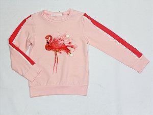 Blusinha Manga Longa Flamingo Milly