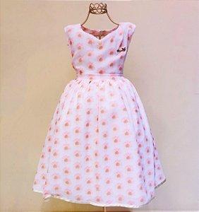 Vestido Florzinha Mily 6-10 Anos
