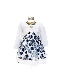 Vestido com Bolero Infantil Menina