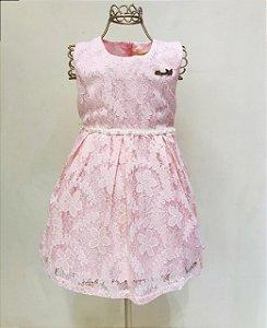 Vestido Rosa Mily Renda