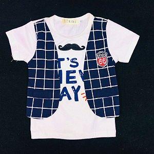 Camiseta Baby Bigode Masculino Kiki