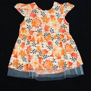 Vestido Baby Florido c/ Tule