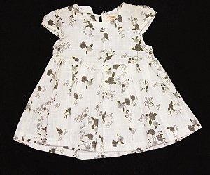 Vestido Baby Branco Florido Mily