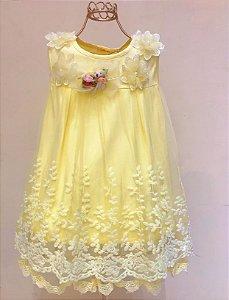 Vestido Festa Mily Amarelo