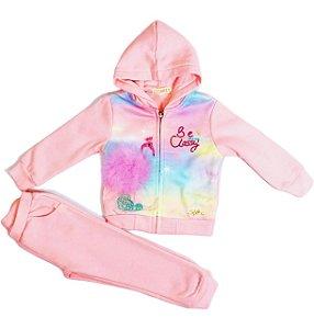 Conjunto Infantil Menina Moletom Flamingo