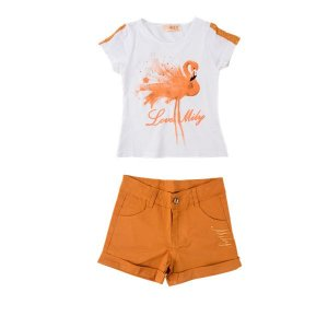 Conjunto Flamingo Infantil Menina