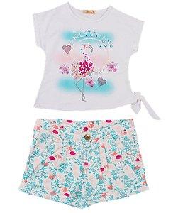 Conjunto Infantil Menina Flamingo