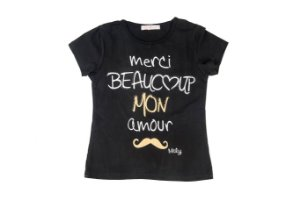 Camiseta Teen Infantil Menina Merci