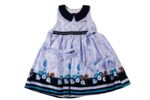 Vestido  Infantil Menina Com Gola
