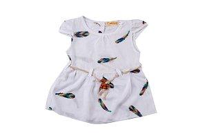 Vestido Infantil Menina Peninhas