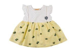 Vestido Infantil Menina com Flor