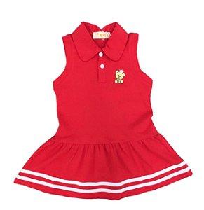 Vestido Polo Ursinho Infantil Menina