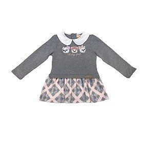 Vestido Ursos Infantil Menina