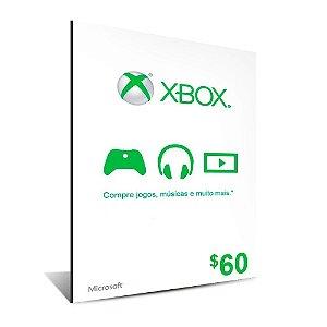 CARTÃO XBOX $60