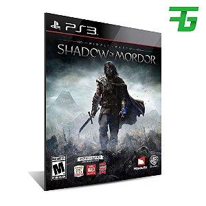 Middle Earth Shadow Of Mordor - Mídia Digital - Playstation 3