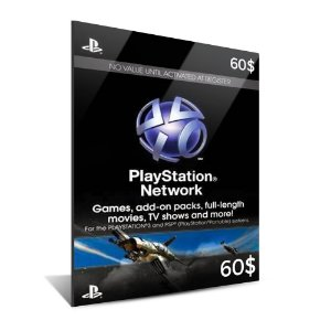 PSN CARD $60 DÓLARES