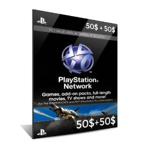PSN CARD $100 DÓLARES (2X$50)