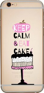 Capinha para celular - Keep Calm And Eat Cake