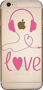 Capinha para celular - Amo Música