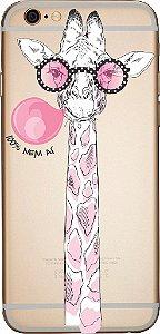 Capinha para celular - Girafa 100% Nem aí