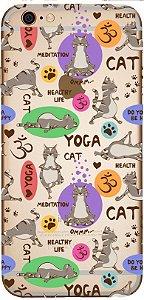 Capinha para celular - Cat Yoga