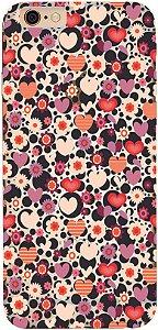 Capinha para celular - Coração e Flores