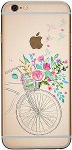 Capinha para celular - Bicicleta e Flores