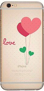 Capinha para celular - Love com Bolinhas