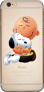 Capinha para celular -   Snoopy  e Charlie Brown 2