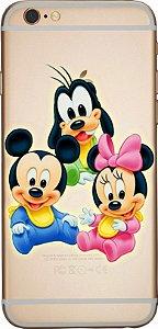 Capinha para celular - Baby Mickey e Minnie