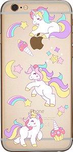 Capinha para celular- Unicórnios Arco-íris