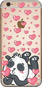 Capinha para celular - Panda Apaixonado