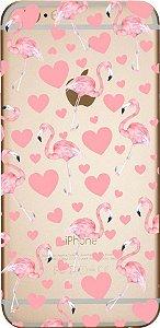 Capinha para celular - Flamingos