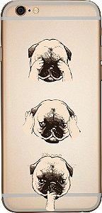 Capinha para celular - Pug Sábio