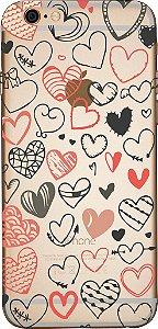 Capinha para celular - Corações Rabiscados